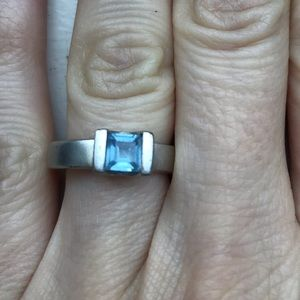 Jewelry - Sterling Silver & Blue Topaz Ring